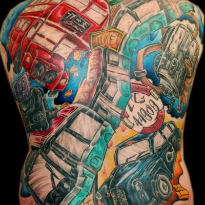 Dave Back Tattoo