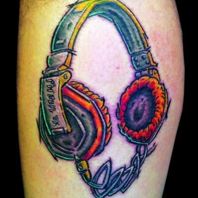 Dez Headphones Tattoo