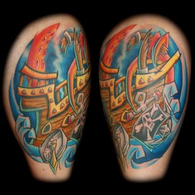 Karen Leg Tattoo