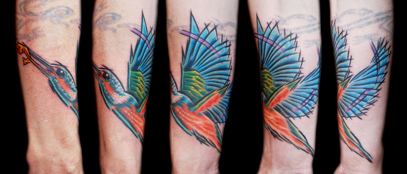 Neil's Kingfisher Tattoo