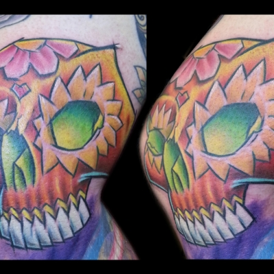 Phil's Sugar Skull Tattoo