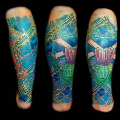 Rab's Leg Sleeve by Gray Silva - Rampant Ink