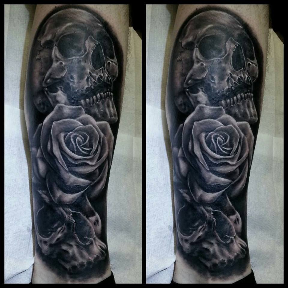 Skull Cover Up Tattoo