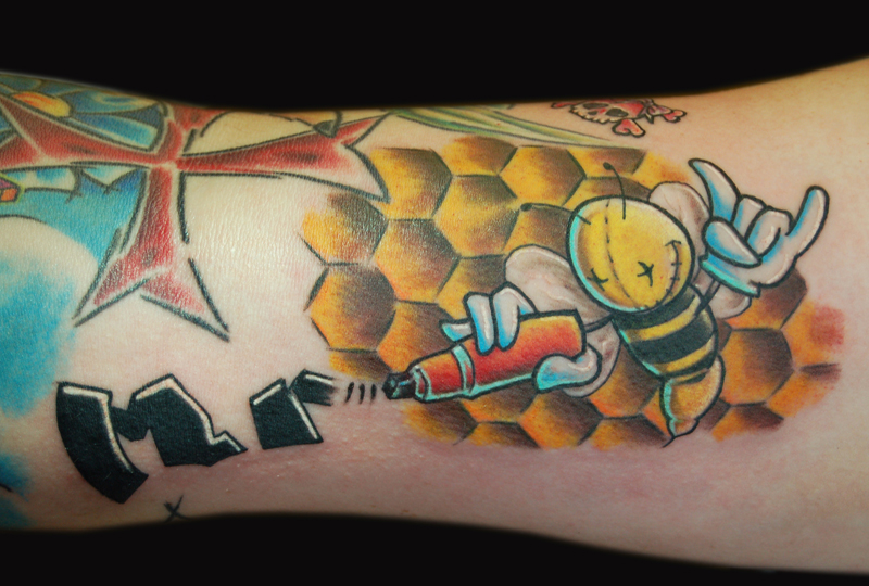 Steve's Bee Tattoo