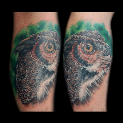 Trev Owl Tattoo